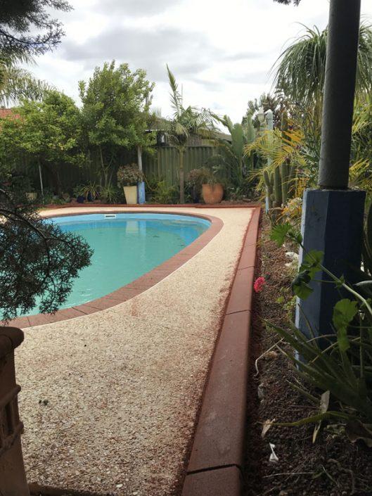 pool concrete edging
