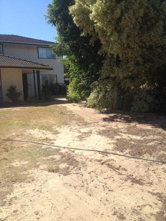 garden concrete lawn edging Perth